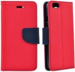 FANCY BOOK FLIP CASE FOR APPLE IPHONE 7 RED-NAVY