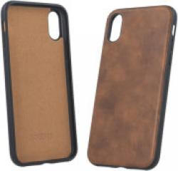 FOREVER PRIME LEATHER BACK COVER CASE FOR APPLE IPHONE XS MAX BROWN