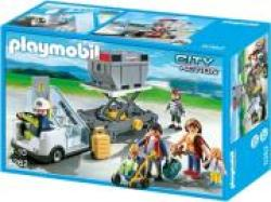 PLAYMOBIL 5262 AIRCRAFT STAIRS WITH PASSENGERS AND CARGO-ΣΚΑΛΕΣ ΜΕ ΕΠΙΒΑΤΕΣ ΚΑΙ ΕΜΠΟΡΕΥΜΑΤΑ