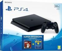 Sony PlayStation 4 Slim D Chassis 500GB Black & NBA 2K17 & PS Plus 90 Days (PS4)